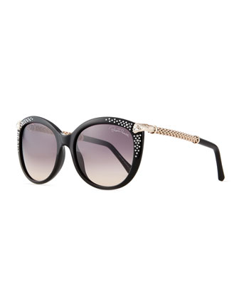 Rhinestone Cat-Eye Sunglasses
