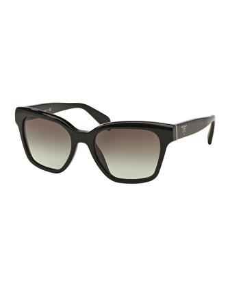 Square Acetate Logo Sunglasses