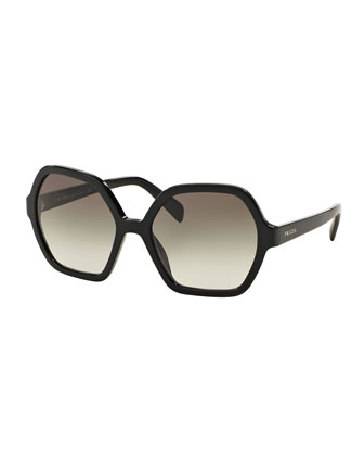 Oversize Hexagonal Sunglasses
