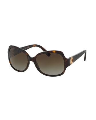 Polarized Butterfly Sunglasses, Tortoise