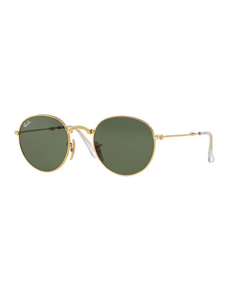 Round Etched Sunglasses