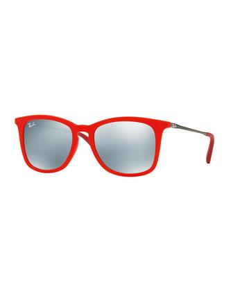 Junior Mirrored Wayfarer Sunglasses