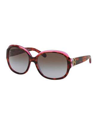 Gradient Butterfly Sunglasses, Pink Tortoise