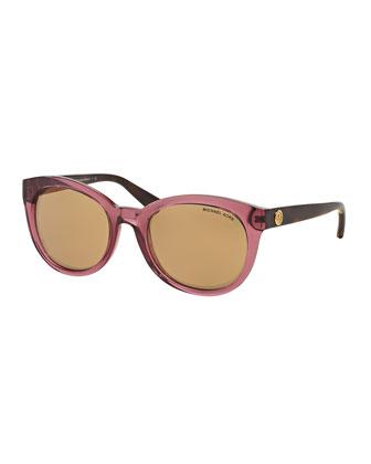 Colorblock Universal-Fit Cat-Eye Sunglasses, Rose