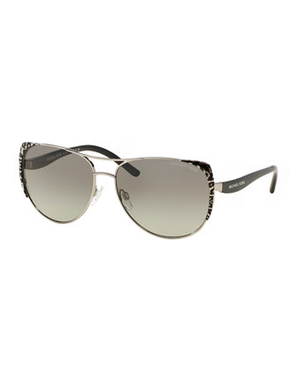 Capped Gradient Aviator Sunglasses
