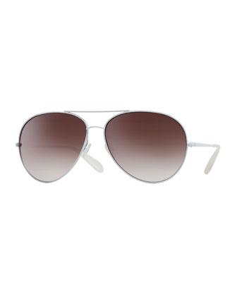 Sayer Mirrored Aviator Sunglasses
