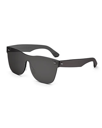 Tuttolente Classic Square Sunglasses, Black