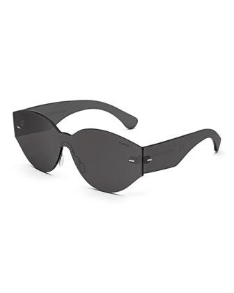 Tuttolente Drew Mama Oval Sunglasses, Black