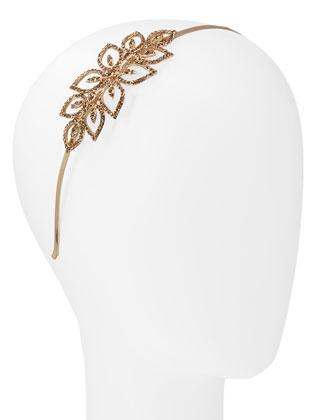 Square Rhinestone Flower Headband