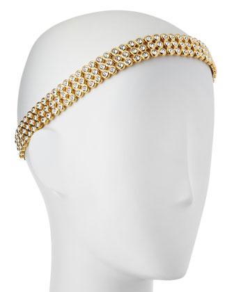 Lauren Adjustable Rhinestone Head Wrap