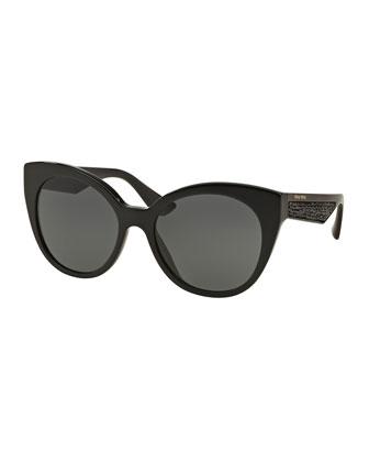 Beaded Cat-Eye Sunglasses