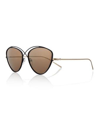 Brooklyn Metal Cat-Eye Sunglasses