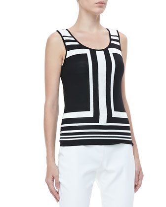 Colorblock-Stripe Tank