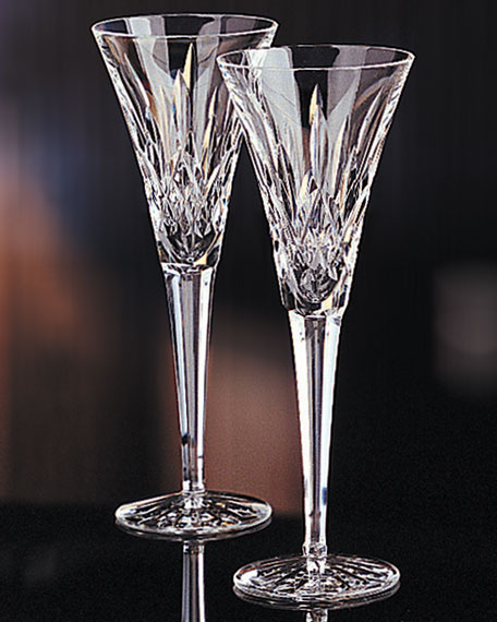 lismore toasting flutes set of 2 - Waterford Crystal Wine Glasses