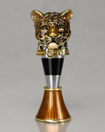 Leopard Wine Stopper