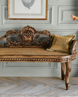 Cane Shell Bench