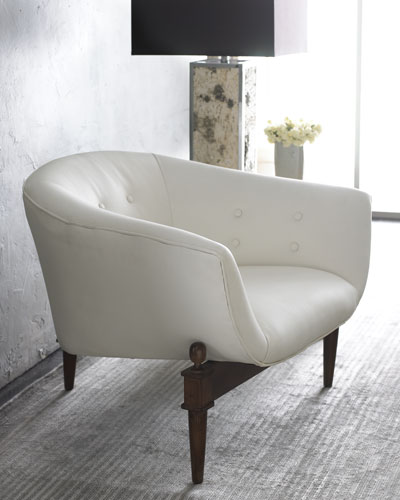 Global Views White Scoop Chair