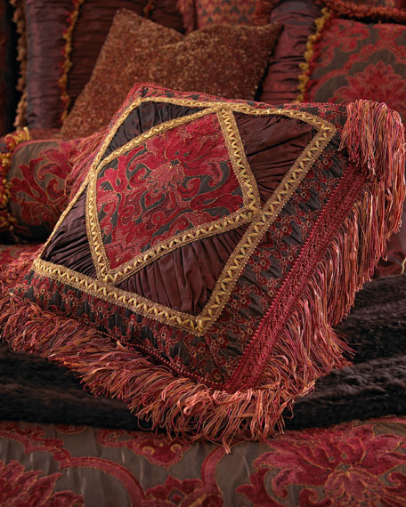 Isabella Collection by Kathy Fielder Diamond-Center Pillow,