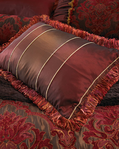 Isabella Collection by Kathy Fielder Striped Boudoir Pillow,