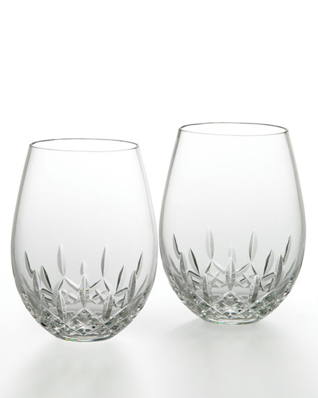 Waterford Lismore Nouveau Stemless Deep Red Wine Glasses,