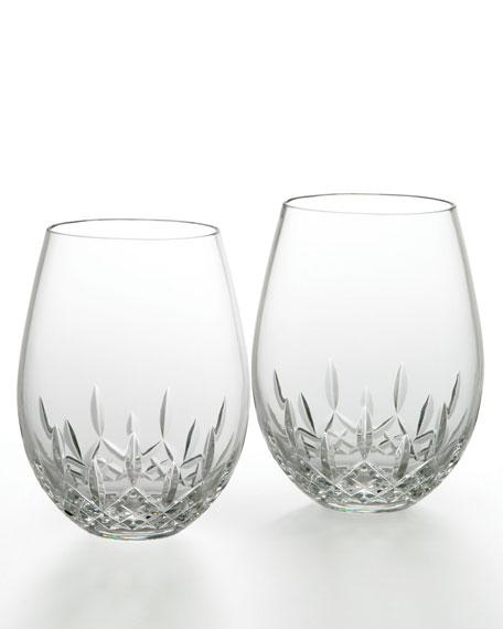 Lismore Nouveau Stemless Deep Red Wine Glasses, Set of 2