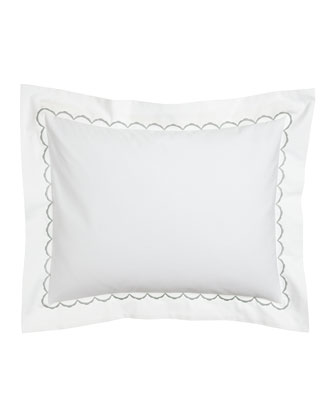 Standard Embroidered Percale Sham, Monogrammed