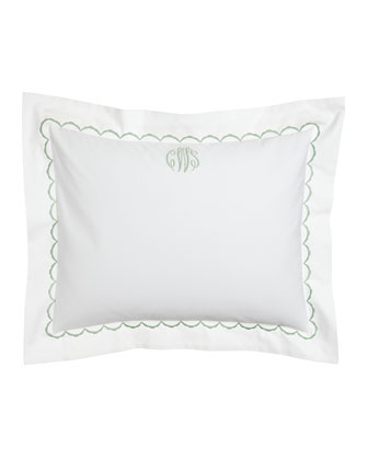 Standard Embroidered Percale Sham, Plain