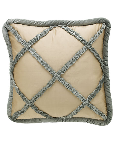 Villa di Como Ruffled Lattice European Sham