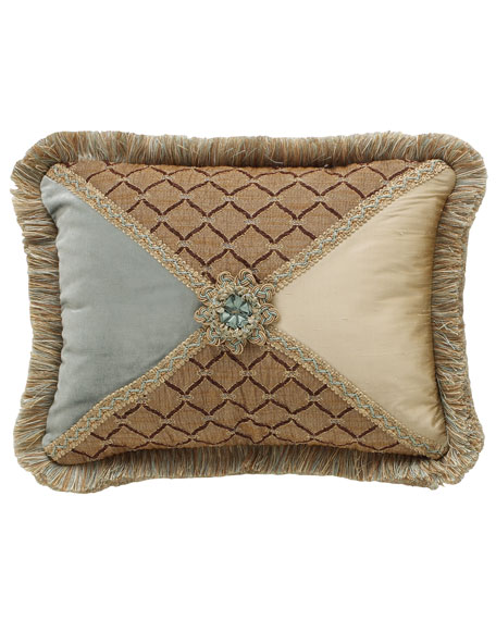 Villa di Como Rosette-Center Pillow