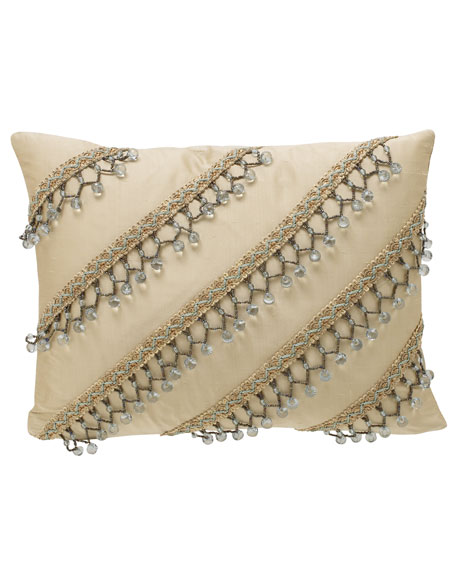 Villa di Como Beaded Pillow