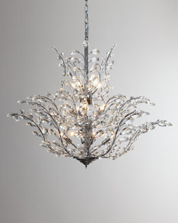 "DALE TIFFANY ""Upside Down"" Crystal Chandelier"