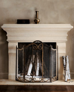 Large Stone Mantel