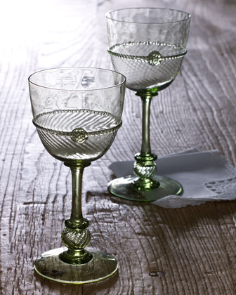 Four Small Graham Wine Glasses