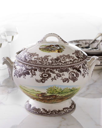 Woodland Rabbit Covered Tureen, 14.5
