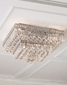 Eight-Light Crystal Ceiling Fixture