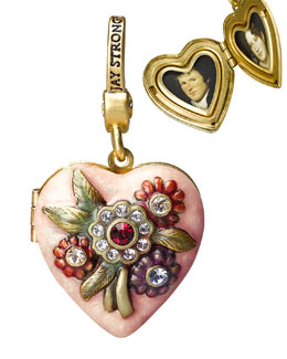 "Jay Strongwater ""Miranda"" Heart Locket Charm"