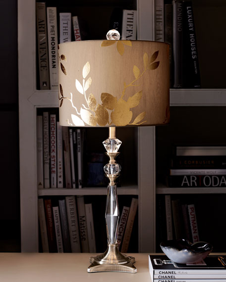 Golden leaf table lamp neiman marcus golden leaf table lamp aloadofball Image collections