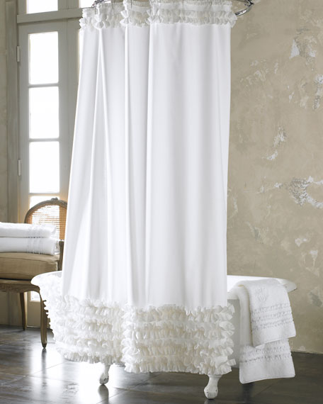 white ruffle shower curtain. Ruffled Shower Curtain White Ruffle R