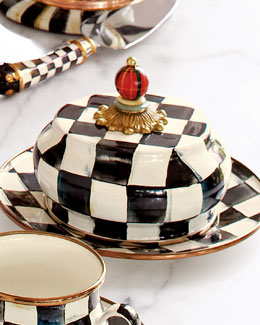 MacKenzie-Childs Courtly Check Butter Dish