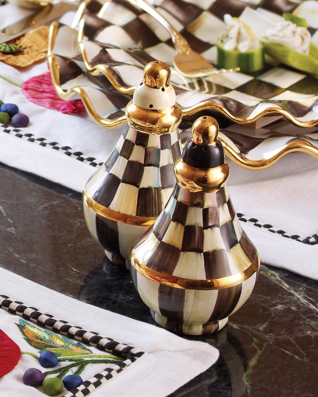 Courtly Check Salt & Pepper Shaker Set   MacKenzie Childs