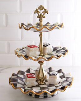 MacKenzie-Childs Courtly Check Tiered Server