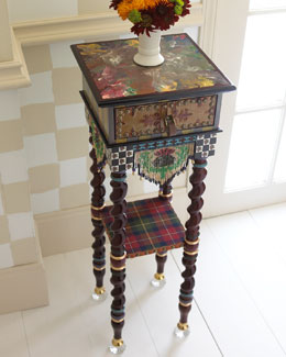 "MacKenzie-Childs Dark ""Tiny"" Table"