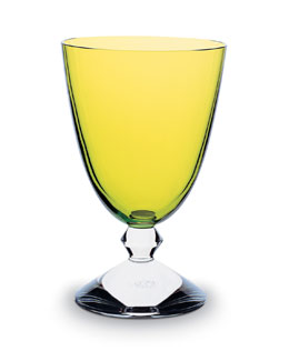 Baccarat Vega Water Glass, Olivine