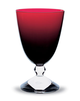 Vega Water Glass, Ruby