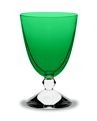 Vega Water Glass, Emerald