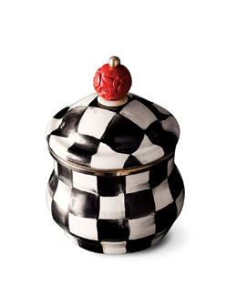 "MacKenzie-Childs ""Courtly Check"" Sugar Bowl"