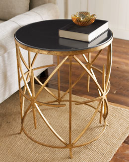 Granite-Top Side Table