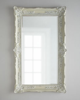 "Bassett Mirror, Inc. ""Antique White"" Mirror"