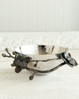 "Michael Aram ""Black Orchid"" Nut Bowl"