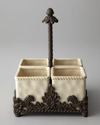 Ceramic Flatware Caddy